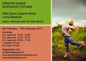 """Creative Dance Workshop for Kids in Lanzarote """"Learn,Discover and Fun throughDancing"""""""